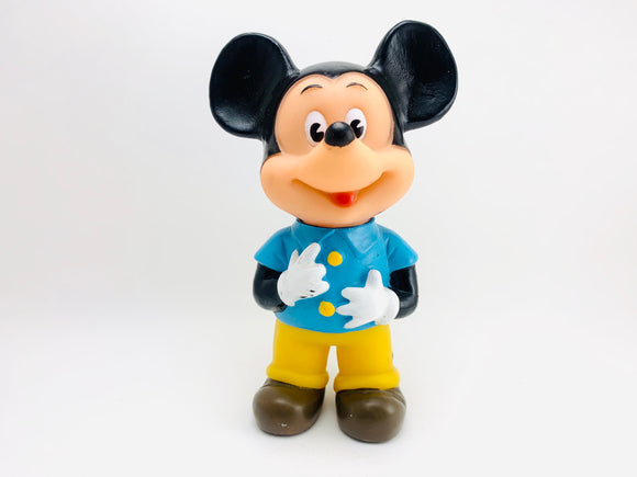 Vintage Mickey Mouse Rubber Squeeze Toy Made in Hong Kong, Walt Disney Productions