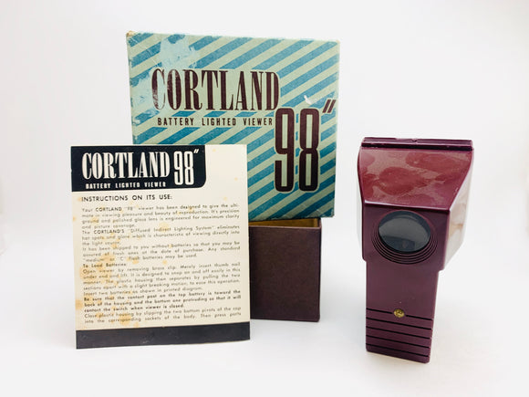 1960's Cortland 98 35mm Slide Viewer in Original Box with Instructions