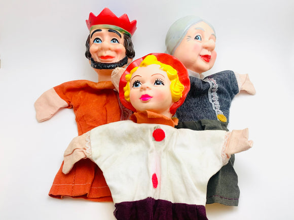 Vintage Rubber Faced Hand Puppets