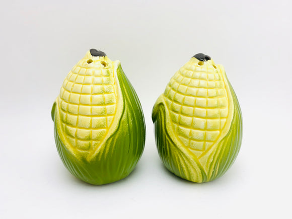 Vintage Ceramic Corn Salt and Pepper Shakers
