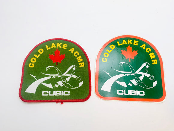 Vintage Cold Lake ACMR Cubic Patch and Sticker