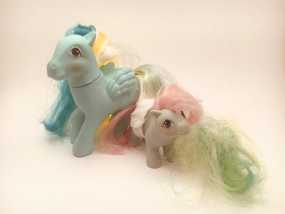 2 Vintage G1 Hasbro My Little Ponies, Braided Beauty and Baby Cuddles