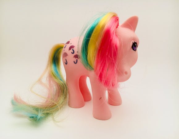 SOLD! G1 1983 My Little Pony Parasol Pink Rainbow Glitter Umbrellas