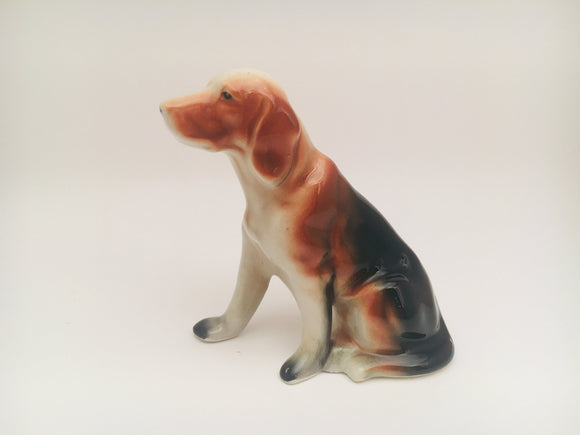 SOLD! Vintage Porcelain Dog Figurine