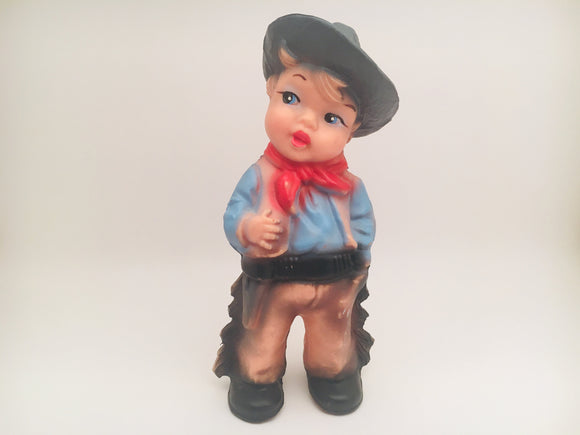 1970's Rubber Cowboy Squeek Toy