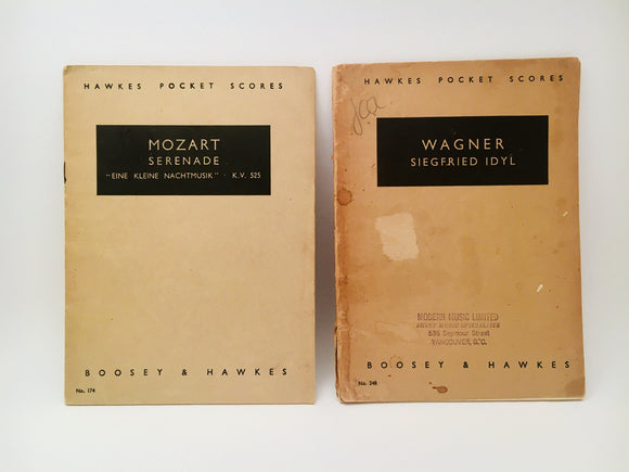 1941 Hawkes Pocket Scores Paperback Music Books
