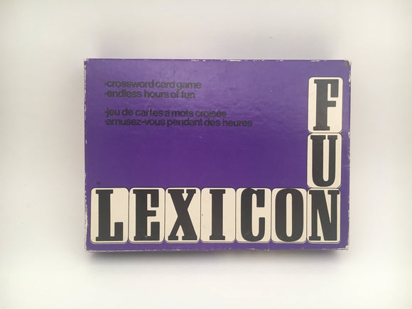1960's Lexicon Crossword card game from Parker
