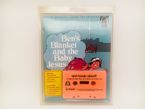 SOLD! Ben's Blanket and the Baby Jesus,  Childrens Books with Cassette