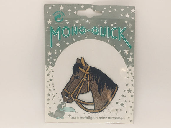 Mono-Quick Horse Embroidered Iron On, Sew On Patch