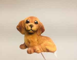 Vintage David L Jones wholesale florist flocked dog
