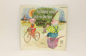 1971 Pushbike Song and Jack in the box, Pinky and Perky 45 Record