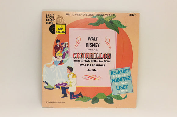 SOLD! 1950 French Cinderella Book and Record