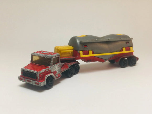 1970's Majorette Magirus ech/100 Truck and Trailer, Made in France