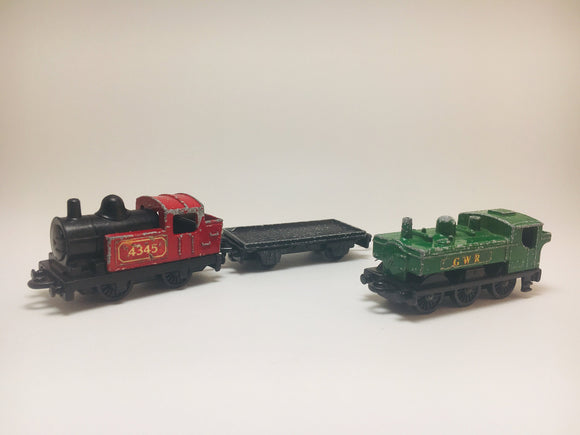 1970's Matchbox Trains and Flat Car, Lesney