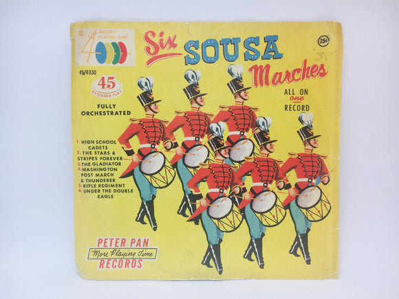 Six Sousa Marches, Peter Pan Cadet Band 45 RPM Record