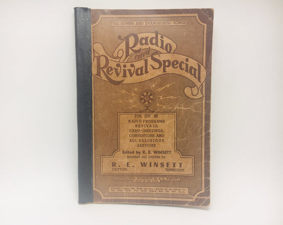 1939 Radio And Revival Special... Fine Hymns And Evangelistic Songs