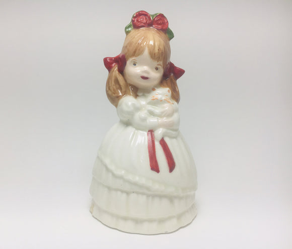 Little Girl and her Cat Crinoline Figurine
