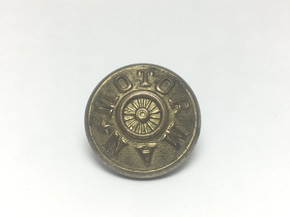 1898 Railroad MOTORMAN Button