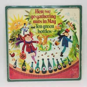 1970 Here we go gathering nuts in May and Ten green bottles 45 RPM kids record
