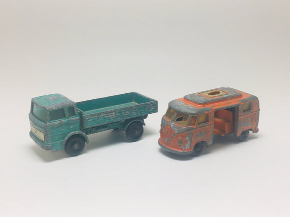 1960's Matchbox Mercedes Truck and a Volkswagen Camper