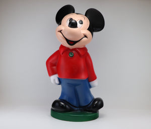 SOLD! 1970's Mickey Mouse Plastic Money Bank