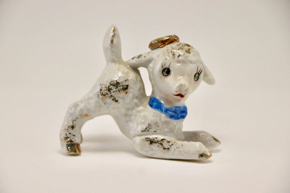 1950's Japan Porcelain Lamb