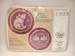 1989 Love Birds Cross Stitch Kit in Original Package by The Creative Circle
