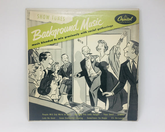 "SOLD! 1950's Show Tunes - Background Music 10"" Record"