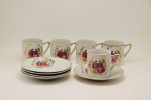1970's Giftcraft Japan Ceramic Victorian Tea Set
