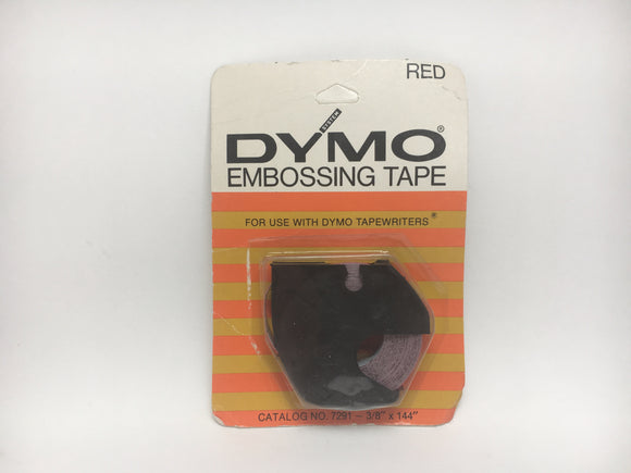 SOLD! 1971 Red Dymo Embossing Tape