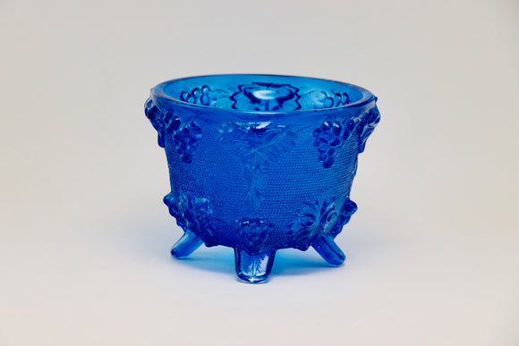 1950's Blue Jeanette Glass Footed Candy Dish