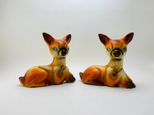1950's Hand Painted Porcelain Deer