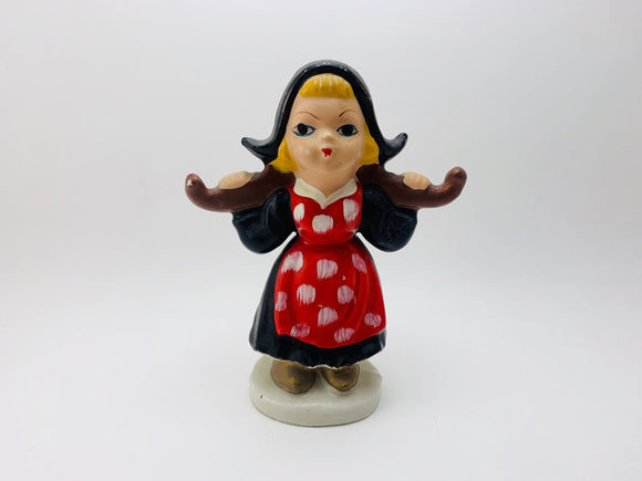 1950's Porcelain Dutch Girl Figurine