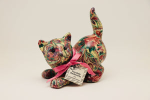 1970's Porcelain Patchworks Cat by Joan Baker Designs