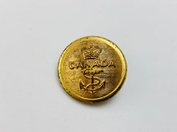 Ww2 Canadian Navy Brass Button