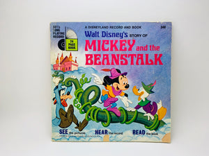 SOLD! 1970 Mickey and the Beanstalk - A Little Golden Book and Record