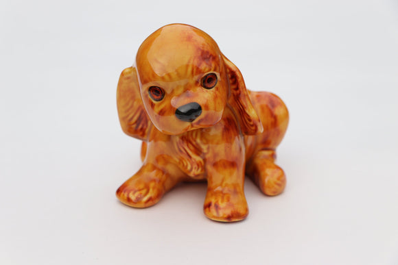1950's Porcelain Dog with Glass Eyes