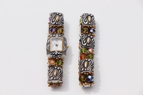 Fred Belay - Japan Movt. Stone Collection Women's Matching Watch & Bracelet