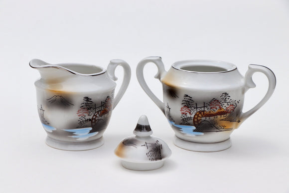 1920's Nippon Meiyo China Sugar and Creamer Set