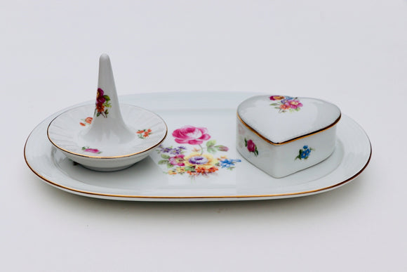 1970-80's Colditz - CP Germany Porcelain Jewelry Display Set