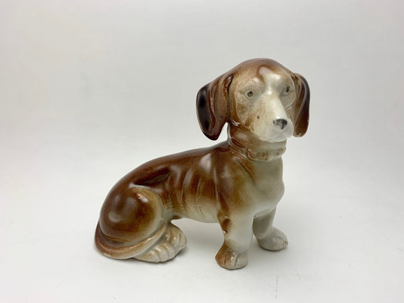 SOLD! 1920's Porcelain Dachshund Dog Figurine