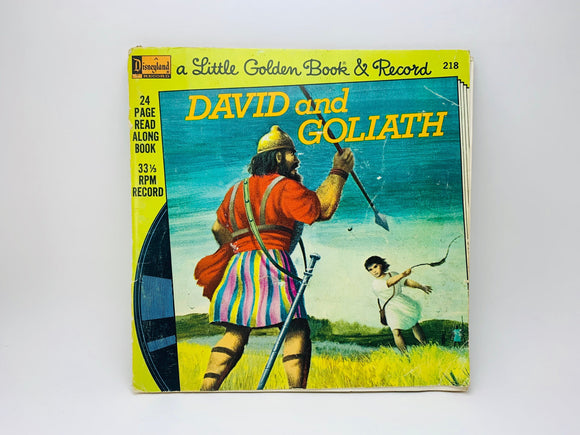 1976 David and Goliath - A Little Golden Book and Record