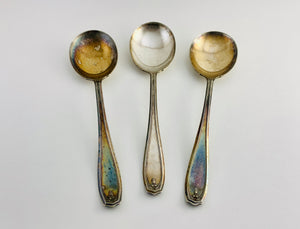 1919 Chippendale / Adair Pattern, 3 1881 Rogers A1 Soup Spoons