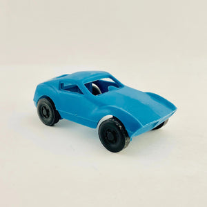 1960's Blue Molded Plastic Toy Car