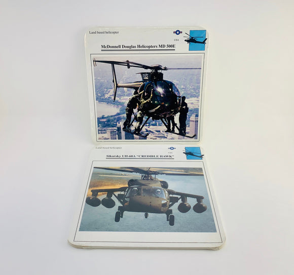 1980-90's Edito-Service Military Aircraft Collector Cards