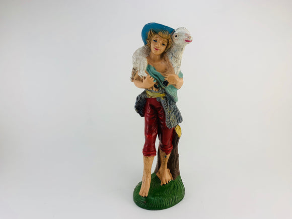 SOLD! 1960's Sheperd Boy Italian Nativity Figurine