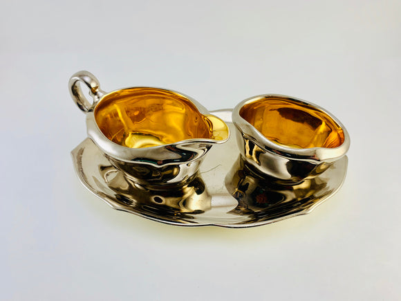 1934 Royal Winton 3Pc Fine Bone China Cream and Sugar Set