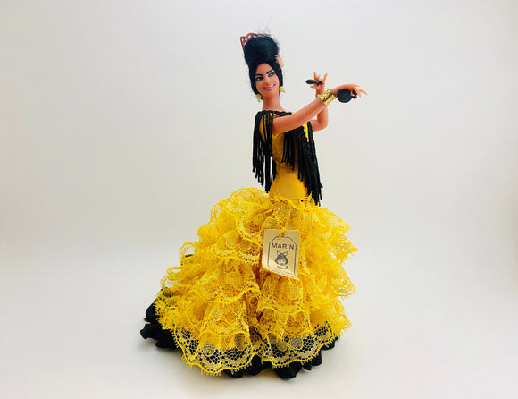 1970's Marin Chiclana Plastic Flamenco Dancer Doll