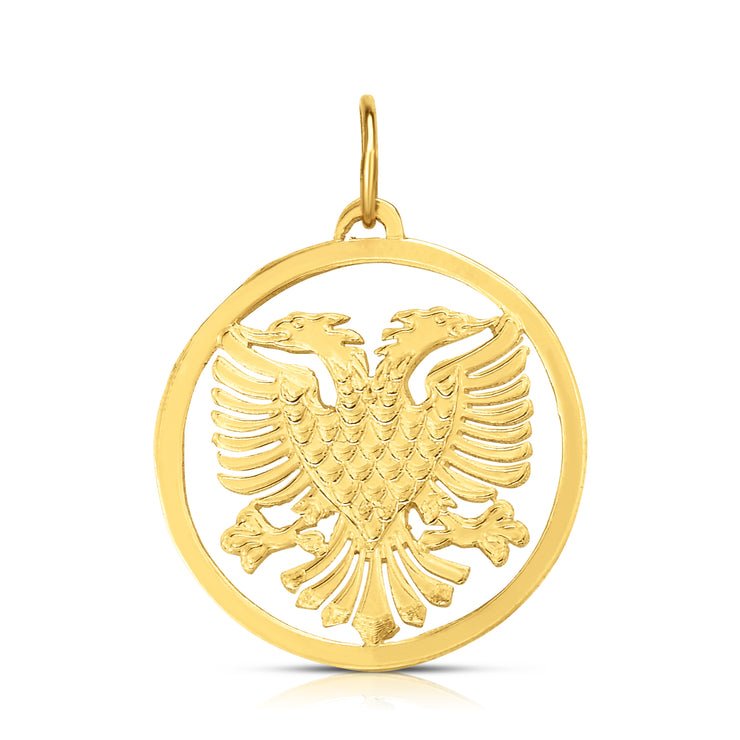 SHQIPONJA - The Round Enclosed Two Headed Eagle