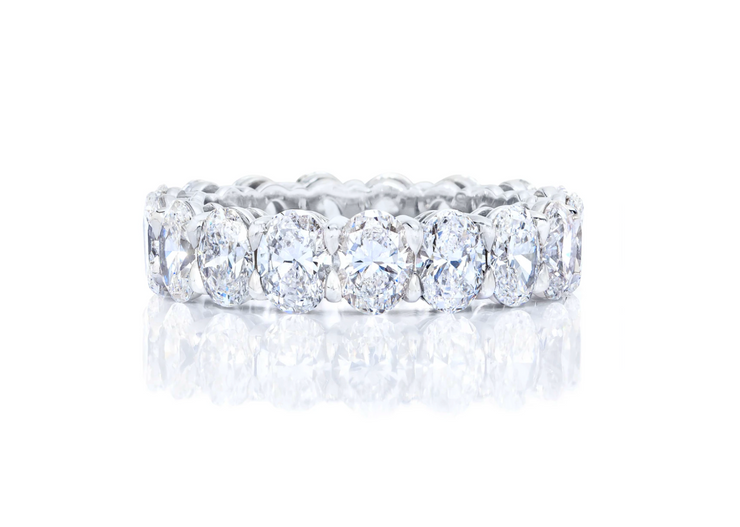 The Classic Oval Cut Eternity Band